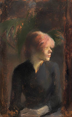 Portaits Painting - Carmen Guadin by Mountain Dreams