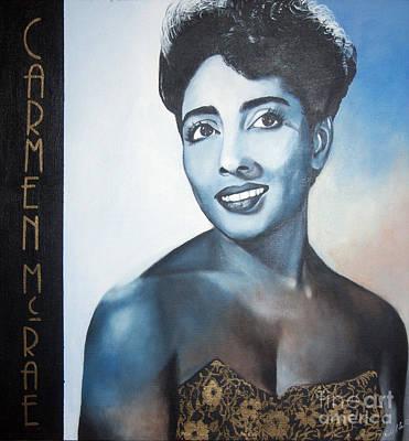 Carmen Mcrae Art Print