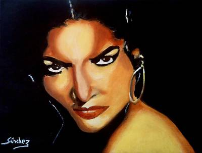 Carmen - Original Painting  Art Print by Manuel Sanchez
