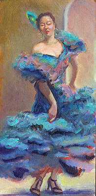 Carmencita Dances Art Print by Gwen Carroll