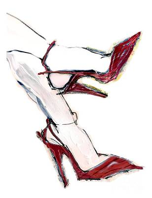 Painting - Carmen's Shoes by Carolyn Weltman