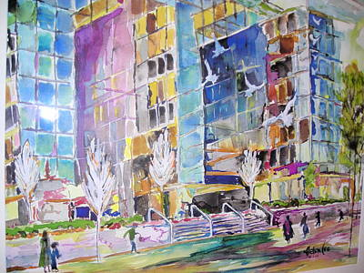 Painting - Carmike Plaza by Helen Lee