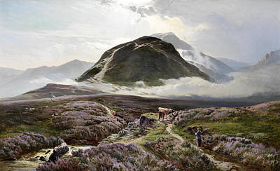 Percy Painting - Carn Dearg And Ben Nevis From Achintee by Sidney Richard Percy