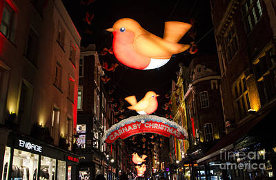 Photograph - Carnaby Street Christmas London by Deborah Smolinske