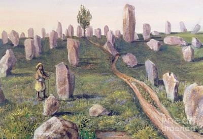 Neolithic Painting - Carnac by Prosper Merimee