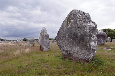 Megalith Photograph - Carnac Stones by Science Photo Library