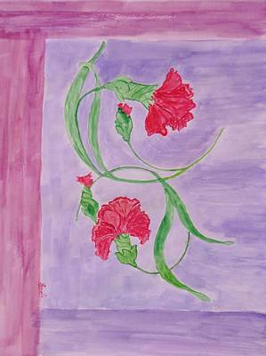 Cloves Painting - Carnation Love by Sonali Gangane