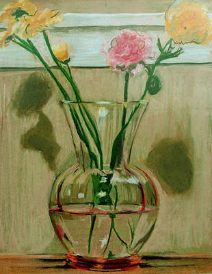 Drawing - Carnations by Anita Dale Livaditis