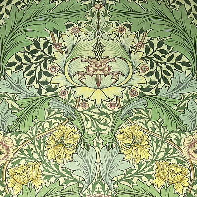 Tapestry - Textile - Carnations Design by William Morris