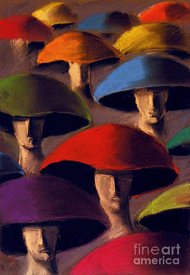 Mushrooms Painting - Carnaval by Mona Edulesco