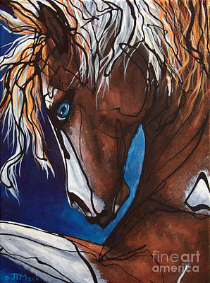 Forelock Painting - Carnaval Ride by Jonelle T McCoy