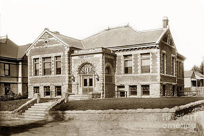 Photograph - Carnegie Library 696 Monterey Street San Luis Obispo California Circa 1907 by California Views Mr Pat Hathaway Archives