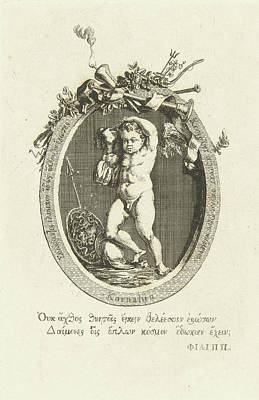 Carnelian Drawing - Carnelian With Amor, Willem Bilderdijk by Willem Bilderdijk