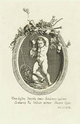 Carnelian Drawing - Carnelian With Amor, Willem Bilderdijk by Willem Bilderdijk