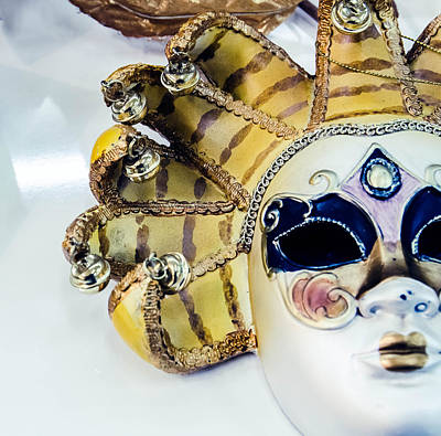 Plaster Mask Photograph - Carneval Mask. by Slavica Koceva