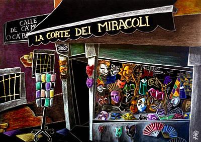 Venezia Drawing - Carnevale Di Venezia - Masks Venice Carnival by Arte Venezia
