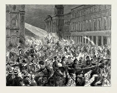 Carnival And Torchlight Procession At Ryde Art Print by Litz Collection