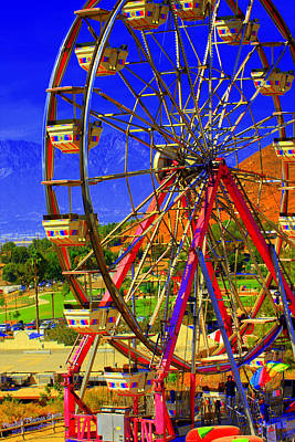 Photograph - Carnival Big Wheel by Randall Thomas Stone