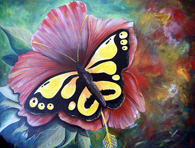 Painting - Carnival Butterfly by Owen Lafon