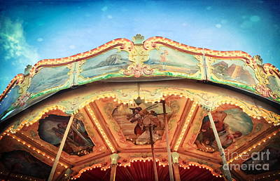 By Colleen Kammerer Photograph - Carnival Carousel Top by Colleen Kammerer