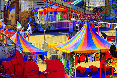 Photograph - Carnival Color Clutter by Randall Thomas Stone