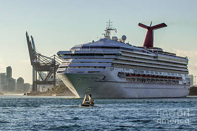 Carnival Cruise Line Destiny Art Print by Rene Triay Photography
