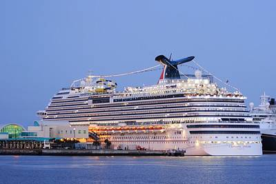 Photograph - Carnival Dream At Port Canaveral by Bradford Martin