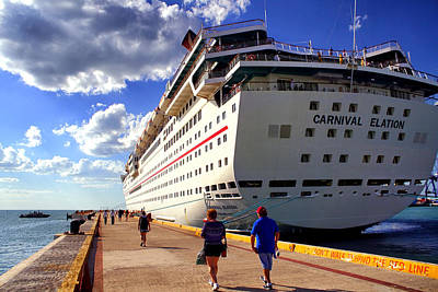 Photograph - Carnival Elation Docked In Progreso by Jason Politte