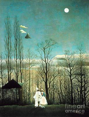 Large Moon Painting - Carnival Evening by Pg Reproductions