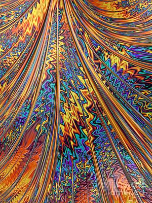 Fantasy Digital Art - Carnival Flow Abstract by John Edwards