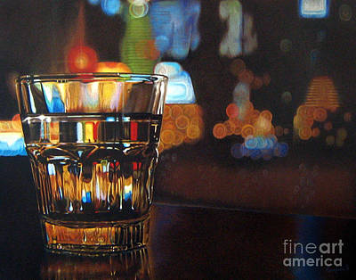 Color Pencil Painting - Carnival Glass by Ranjini Venkatachari
