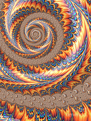 Orange Style Digital Art - Carnival by John Edwards