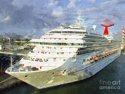 Photograph - Carnival Liberty Cruise Ship by Claire Bull