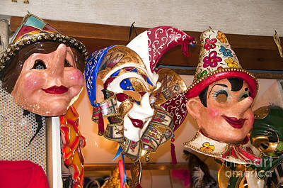 Photograph - Carnival Masks by Brenda Kean