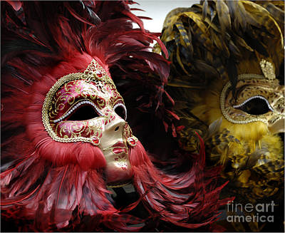 Carnival Masks Venice Italy Art Print by Bob Christopher