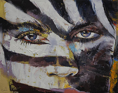 Zebra Painting - Carnival by Michael Creese