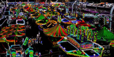 Photograph - Carnival - Midway West by Kathi Shotwell