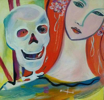 Painting - Carnival Of Bones by Marlene LAbbe