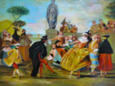 Carnival Of Venice Art Print by Egidio Graziani