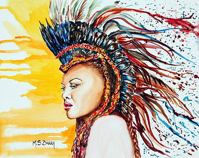 Painting - Carnival Queen by Maria Barry