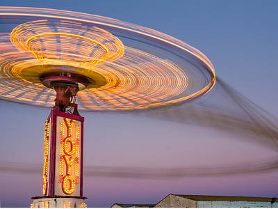 Photograph - Carnival Ride At Dusk by Greg Nyquist