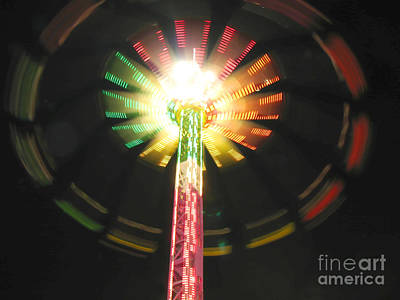 Photograph - Carnival Ride At Night by Connie Fox