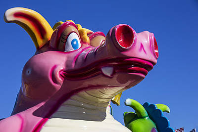 Monster Photograph - Carnival Ride Monster by Garry Gay
