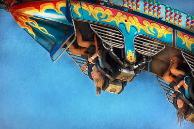 Carnival - Ride - The Thrill Of The Carnival  Art Print by Mike Savad