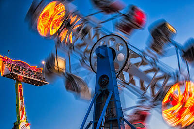 Photograph - Carnival Rides by Joan Herwig