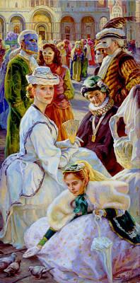 Carnival. San Marco Square. Art Print
