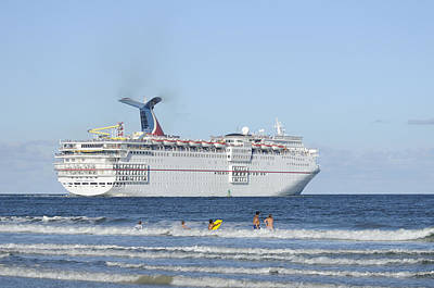 Photograph - Carnival Sensation Leaving Florida by Bradford Martin