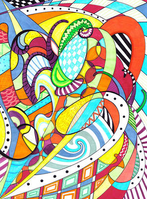 Drawing - Carnival  by Shawna Rowe