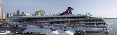 People Photograph - Carnival Spirit 40 X 12 Inch by Mark Baker