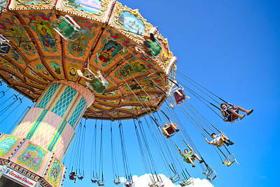 Photograph - Carnival Swing by Colleen Kammerer